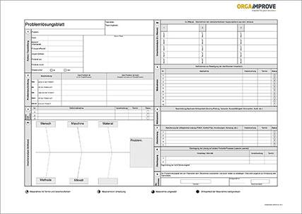 Excel-Vorlage Problemlösungsblatt